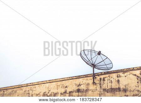 satellite on roof at twillight look beautiful