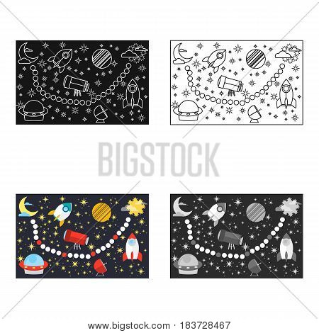 Board game for children icon in cartoon style isolated on white background. Board games symbol vector illustration.