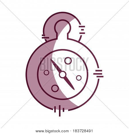 pocket clock to delivery pack at time, vector illustration