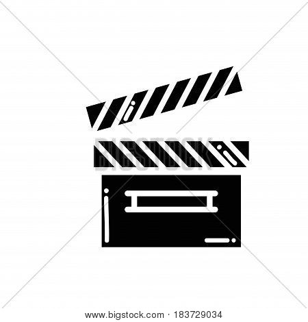contour clapper board video filmstrips, vector illustration
