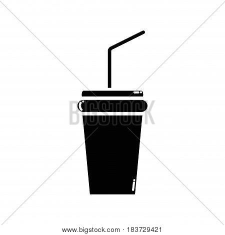 contour soda beverage in the cinema movie scene, vector illustration