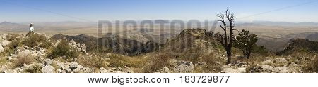 An Aerial Panorama of Sonora Mexico from Miller Peak Huachuca Mountains Arizona