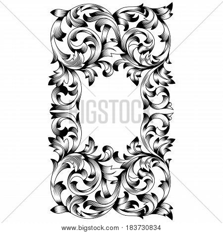 Vintage ornament, baroque ornament, scroll ornament, engraving ornament, border ornament, floral ornament, retro pattern, antique pattern, style acanthus pattern, foliage pattern, swirl pattern decorative pattern, filigree pattern. vector poster