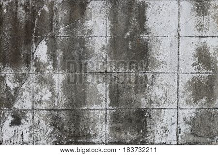 Raw Or Bare Concrete Wall, Black & White Old Concrete Wall .urban Background. Empty Concrete Wall