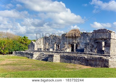 Beautiful ancient Mayan ruins in Tulum Mexico