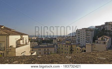 sea overview from Minerva Gardens Salerno Italy