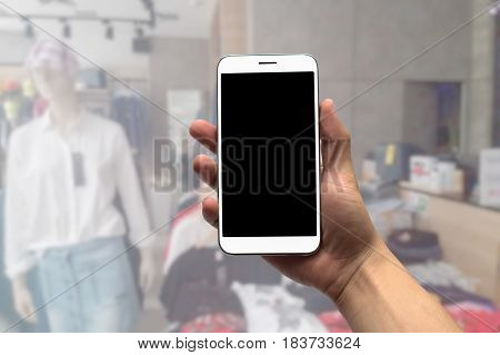 Blurred photo, Blurry image, Jeans shop, background
