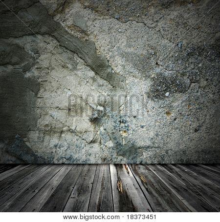 grey grunge interior