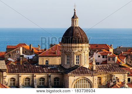 Assumption Cathedral in the old part in Dubrovnik, Croatia