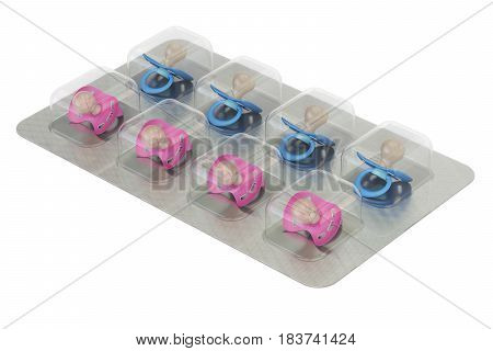 Fertility and infertility treatments concept 3D rendering isolated on white background