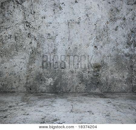 grey concrete interior