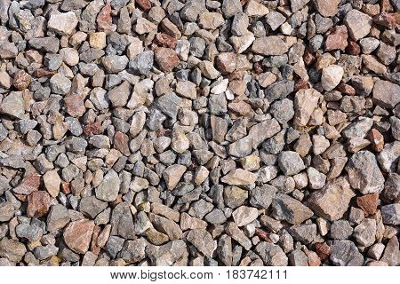 Background of gravel. Natural background from gravel. Stone texture