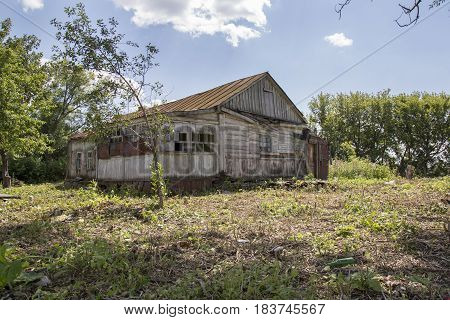 Old abandoned house in a abandoned village