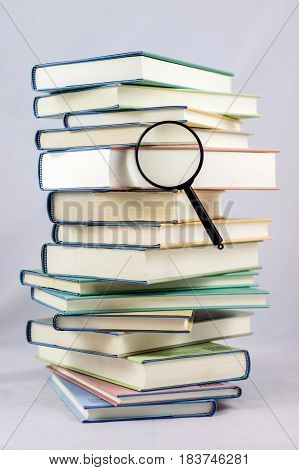 Heap Of Books On White Isolated Background