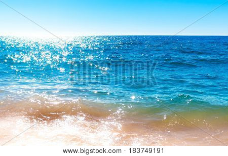 Bright Colored Ocean Surface