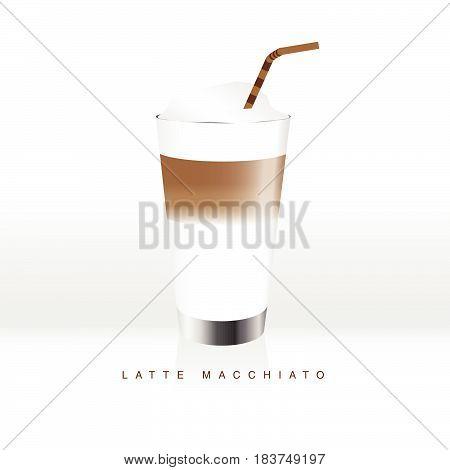 Latte Macchiato Coffee Liquid Color Illustration