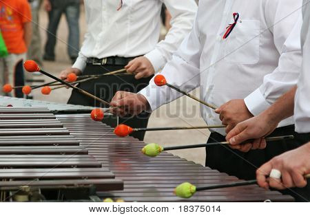 playing xylophone