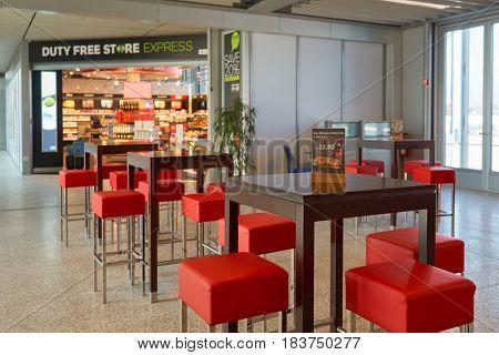 GENEVA, SWITZERLAND - CIRCA SEPTEMBER, 2014: an outlet at Geneva International Airport