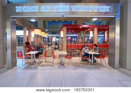 COLOGNE, GERMANY - CIRCA SEPTEMBER, 2014: inside Cologne Bonn Airport.