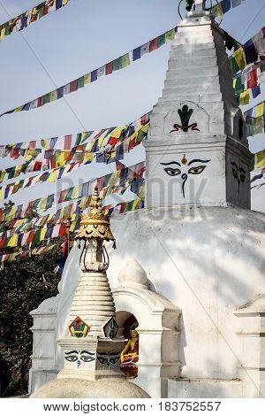Eyes of Buddah on the temple wall in Kathmandu