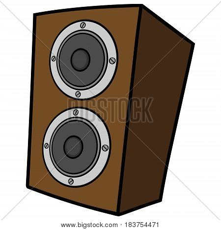 A vector illustration of a stereo speaker.