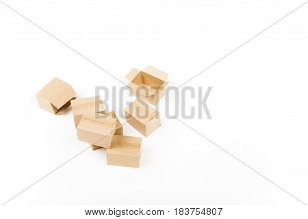 Small parcels for shipping on a white background