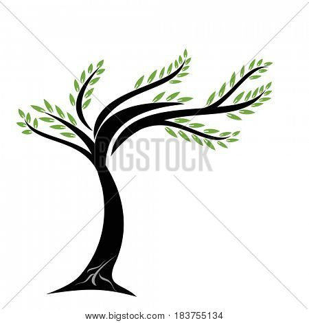 Beautiful art tree on white background