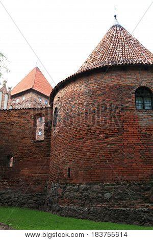 Poland old castle Nidzica old teutonic outdoor
