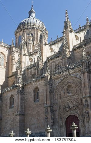 Salamanca (Castilla y Leon Spain): exterior of the medieval cathedral