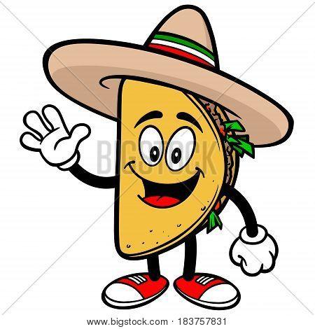 A vector illustration of a cartoon Taco.
