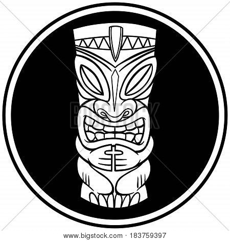 A vector illustration of a Tiki symbol.
