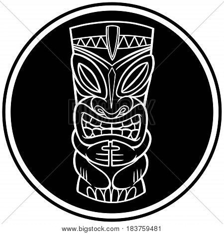 A vector illustration of a Tiki icon.