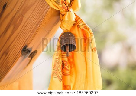 Tibetan Bell And Tapestry