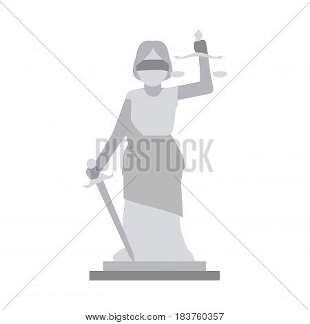lady or blind justice icon image vector illustration design