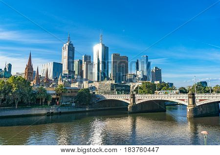Beautiful Cityscape Of Melbourne Central Business District