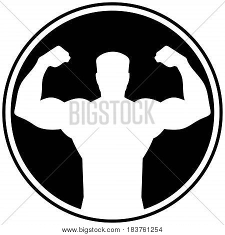 A vector illustration of a Body Builder symbol.