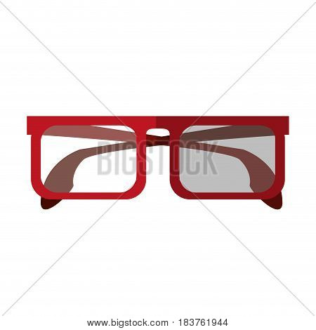 square frame glasses icon image vector illustration design