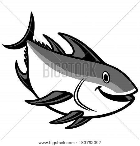 A vector illustration of a cartoon Tuna.