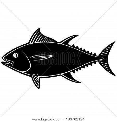 A vector illustration of a Tuna fish.