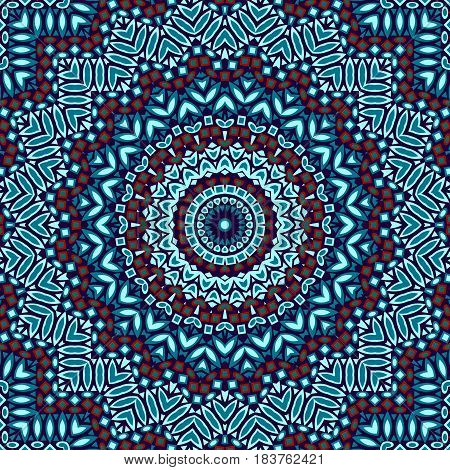 Geometric kaleidoskopic abstract seamless pattern background textile, illustration