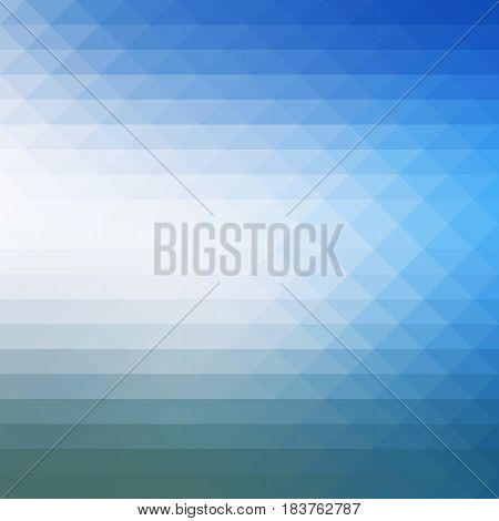 White blue shades abstract geometric background with rows of triangles square