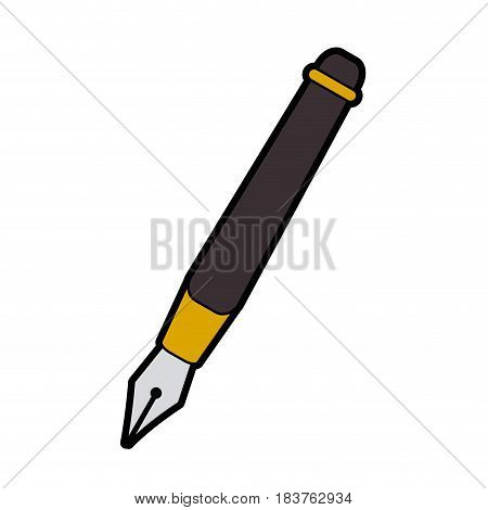 fountain pen icon image vector illustration design
