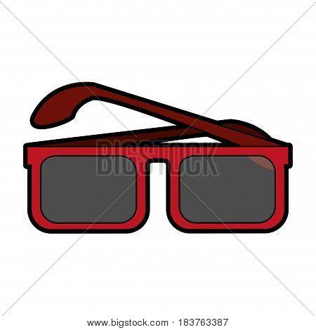 square frame sunglasses icon image vector illustration design