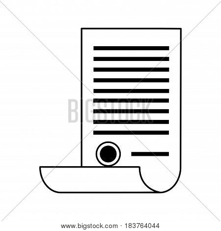 scroll document with stamp icon image vector illustration design