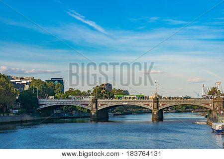 Princess Bridge Over Yarra River In Melbourne