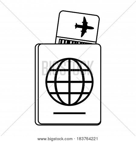 boarding pass and passport icon image vector illustration design