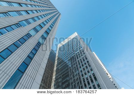 Urban modern commercial building, blue sky background, skyline Beijing, China - May 26, 2016: Skyline of Central Business District