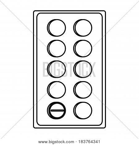 medication tablets healthcare icon image vector illustration design