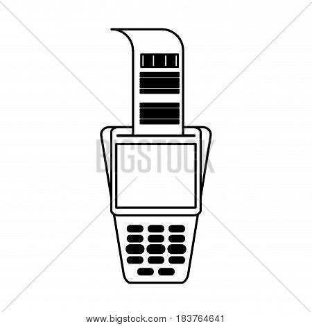 dataphone with blank screen icon image vector illustration design
