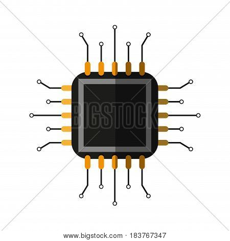 abstract cpu icon image vector illustration design